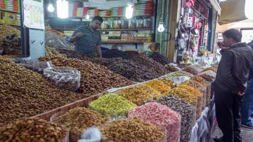 The Souk El Had market in Agadir, Morocco on April 30, 2016. Souk El Had Its 3rd biggest market in the world and its one of the market to every one, you can see locals buying the day shop and the tourist get some gift. (Photo by Gon��alo Silva/NurPhoto via Getty Images)