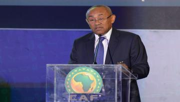 Confederation of African Football (CAF) President Ahmad Ahmad speaks during the 12th CAF Extraordinary General Assembly in the Egyptian Red Sea resort city of Sharm El-Sheikh on September 30, 2018. (Photo by MOHAMED EL-SHAHED / AFP) (Photo credit should read MOHAMED EL-SHAHED/AFP/Getty Images)