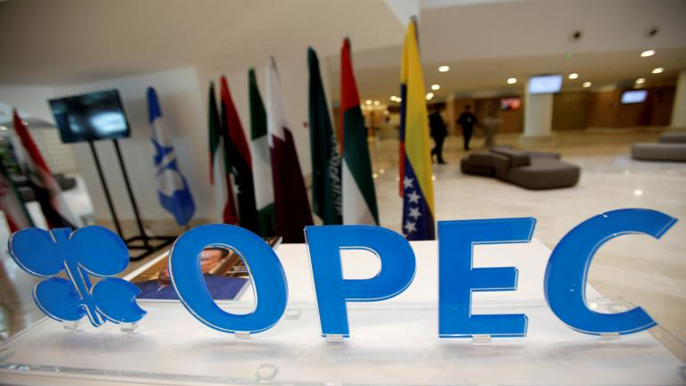 OPEC logo is pictured ahead of an informal meeting between members of the Organization of the Petroleum Exporting Countries (OPEC) in Algiers, Algeria September 28, 2016. REUTERS/Ramzi Boudina TPX IMAGES OF THE DAY