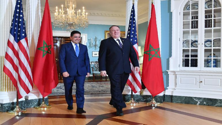 Secretary Pompeo meets with Moroccan Foreign Minister Nasser Bourita Secretary Pompeo meets with Moroccan Foreign Minister Nasser Bourita, at the Department of State, September 17, 2018. [State Department Photo by Michael Gross/ Public Domain]