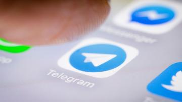 Berlin, Germany - February 12: In this photo illustration the app of Telegram is displayed on a smartphone on February 12, 2018 in Berlin, Germany. (Photo Illustration by Thomas Trutschel/Photothek via Getty Images)
