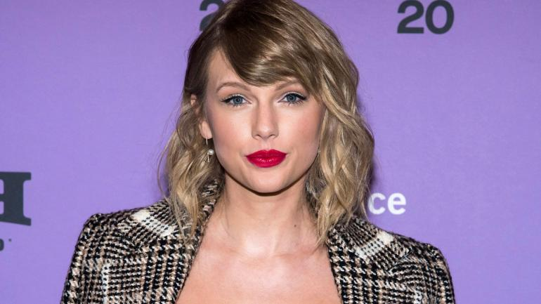 """Mandatory Credit: Photo by Charles Sykes/Invision/AP/Shutterstock (10537627k) Taylor Swift attends the premiere of """"Miss Americana"""" at the Eccles Theater during the 2020 Sundance Film Festival, in Park City, Utah 2020 Sundance Film Festival - """"Miss Americana"""" Premiere, Park City, USA - 23 Jan 2020"""